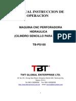 TB-PS100 Hole Punching Machine - Operation Manaul - Spanish 2017