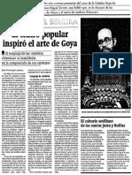 Teatro popular inspiró el arte de Goya