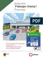 Flyer Nouvel Acces Palexpo Fr