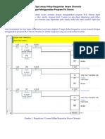 Rangkaian Tiga Lampu Hidup Bergantian Secara Otomatis Dengan Menggunakan Program PLC Omron