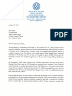 Letter from Bexar County Judge Wolff to MLS Commissioner Don Garber