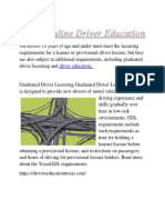 Texas Online Driver Education