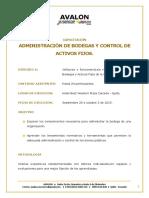 Capacitacion Administración de Bodegas y Control de Activos Fijos