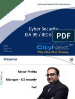 CN17-PWC-Mayur Mehata-IsA 99 Cyber Security Standard