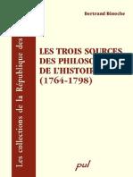 [Bertrand Binoche] Les Trois Sources Des Philosophes de l'histoire