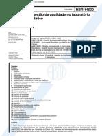 NBR 14500 Gestao Da Qualidade No Laboratorio Clinico