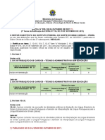 1° TERMO DE RETIFICAÇÃO DO EDITAL 316 - 2017 COCNCURSO TAE