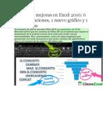 Excel 2016 Funciones Nuevas
