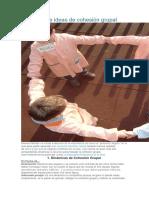 Dinámicas e Ideas de Cohesión Grupal 2017 Materialesducativos.net