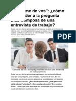 Entrevista Laboral TIPS