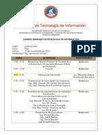 Agenda Seminario