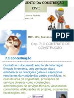 Cap 7 o Contrato de Construc3a7c3a3o