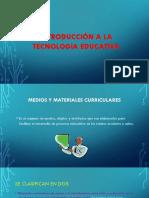 Introducción a La Tecnologia Educativa