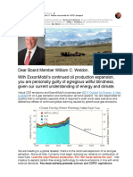 Holding XOM Board Member William C. Weldon Accountable for COP21 Disregard