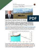 Holding XOM Board Chairman Darren W. Woods Accountable for COP21 Disregard