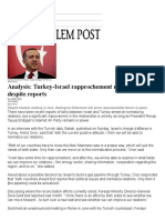 2015.08.12 - Analysis- Turkey-Israel Rapprochement Not in the Cards Despite Reports