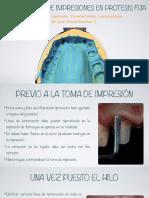 13. Fundamentos de Impresiones en Protesis Fija. Materiales de Impresion. Caracteristicas y Propiedades