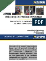Capacitación Oficinas Zonales - 2013-1 Empadronamiento