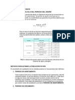 MÉTODOS DE CALCULO DE POBLACIÓN EN ABASTECIMIENTO DE AGUA