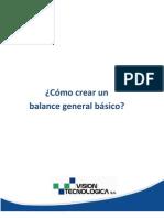 Como Crear Un Balance General Basico