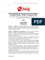 BO-RE-DSN247-Bolivia Reglamento Del Fondo de Conversión de Vehículos A