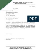 Carta - Reembolso de Despesas