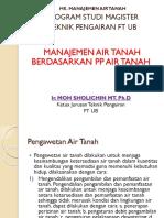 7. Manajemen Air Tanah Berdasar Pp