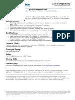 Job Posting-Youth Programs