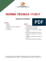 NT 17 2017 Brigada de Incêndio