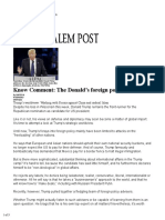 2016.04.07 - Know Comment-The Donald's Foreign Policy