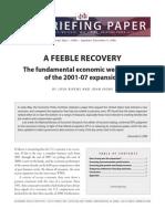 A Feeble Recovery