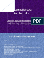 Biocompatibilitatea implantelor