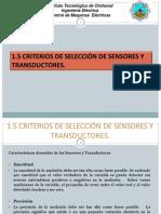 Criterios de Selección de Sensores y Transductores