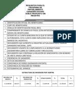Requisitos Para El Programa Ganadero
