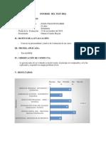 Informe Psicologico del BFQ