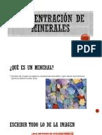 Concentracion de Minerales