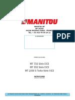 Manual Operacion e Instruccion 732, 932 Serie E-e3 , Mt 1030 s Turbo Ser
