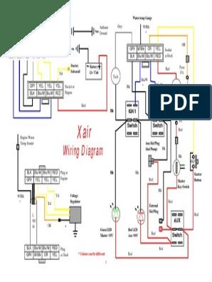 x-AIR Wiring Diagram | Manufactured Goods | Power Engineering | X Air Wiring Diagram |  | Scribd