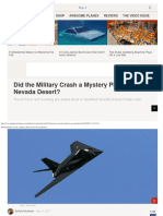 Did the Military Crash a Mystery Plane in the Nevada Desert
