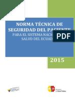 Norma Técnica de Seguridad Del Paciente 05-06-2015