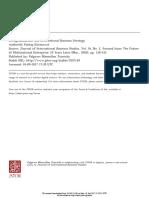 Semiglobalizational and International Strategy