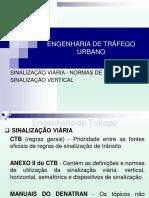 ETU - Aula 12 - Sinalização Viária - Normas de Projeto. Sinalização Vertical PDF