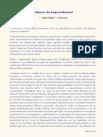 2016.05.12 – Balanço Do Impeachment (Análise Jurídica Do Impeachment)