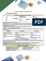 Descripción y Especificación de Proceso y Procedimiento_Gestion de Servicios