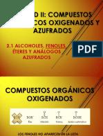 Comp. Oxigenados - FENOLES(1)