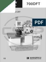 Partslist Siruba 700DFT