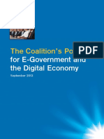Coalition's Policy for E-Government and the Digital Economy