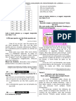 2ª P.D - 2013 (Port. 5º Ano - Blog Do Prof. Warles)