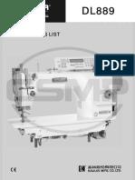 Partslist Siruba LY704 DL889