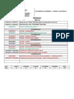 Calendário Acadêmico 20172-Ead
